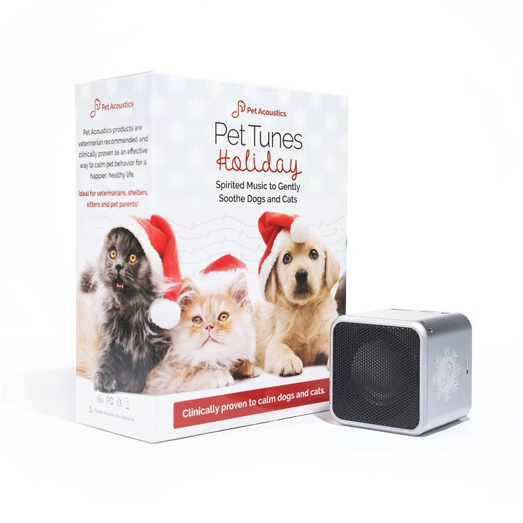 Pet Tunes Holiday music to soothe dogs and cats during high spirited activity